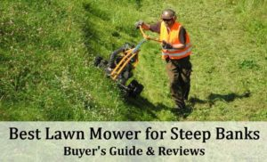 best lawn mower for steep banks