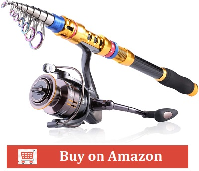 Sougayilang Portable Telescopic Fishing Rod and Reel Combos